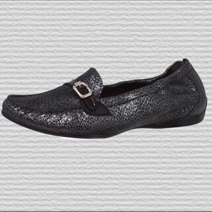 AGL Animal Print Black Patent Loafers | 37 (US 7)